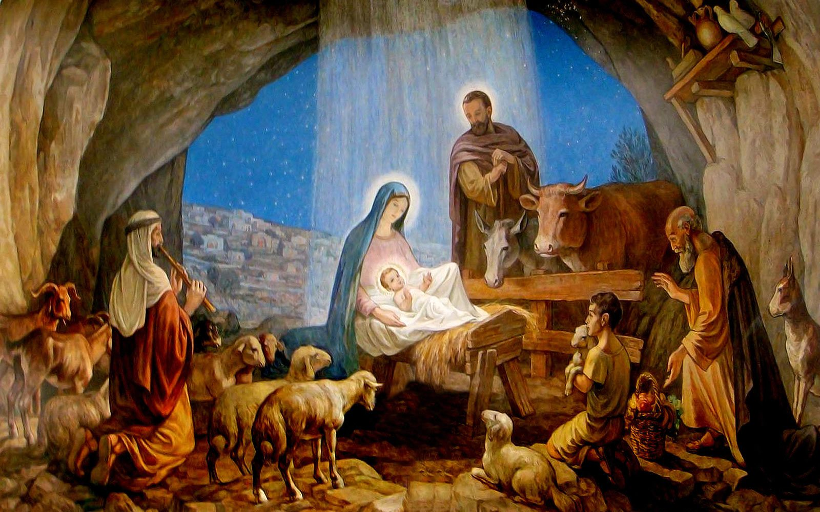 Christmas-Wallpaper-Baby-Jesus-3   Christmas   Holidays ...